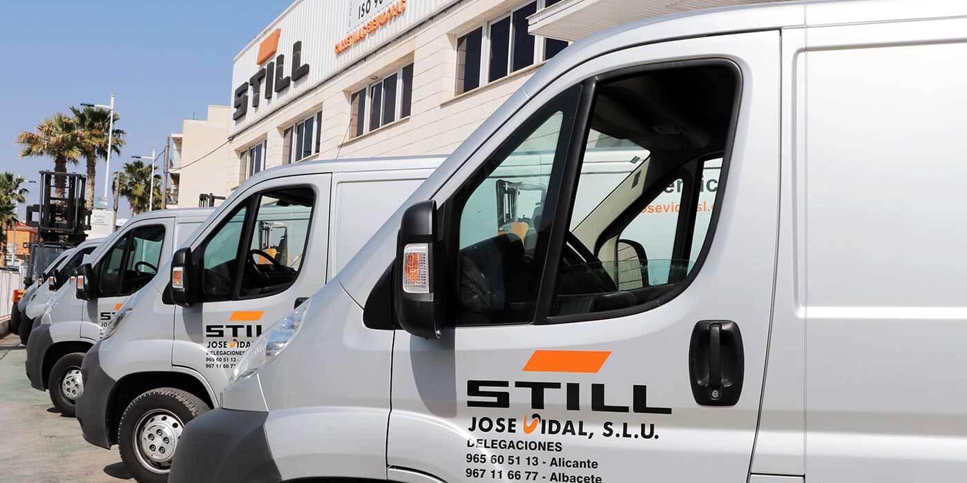 Vehículos servicio técnico JOSE VIDAL SLU
