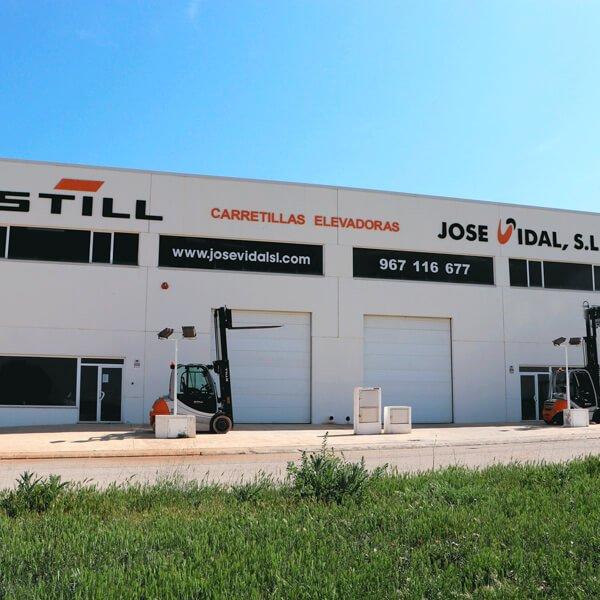 Fachada instalaciones JOSE VIDAL SLU en Albacete